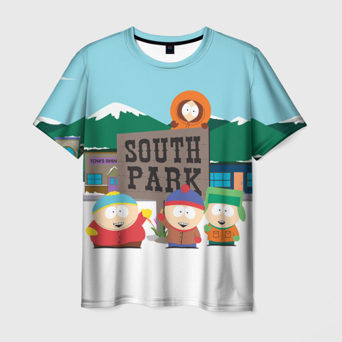 Мужская 3D футболка с принтом ЮЖНЫЙ ПАРК   SOUTH PARK (Z), вид спереди #2