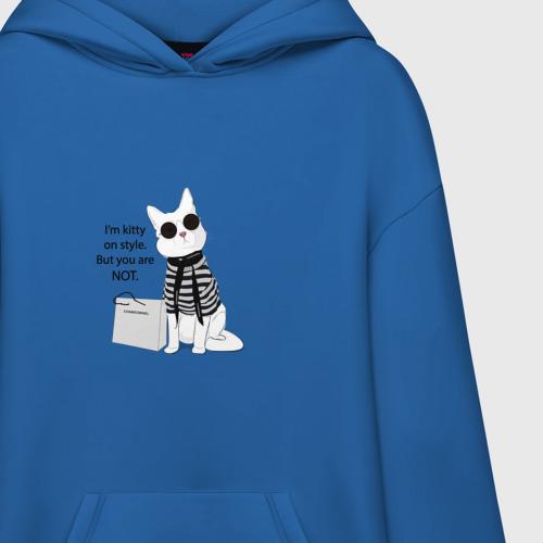 Худи SuperOversize с принтом Kitty on style, фото на моделе #1