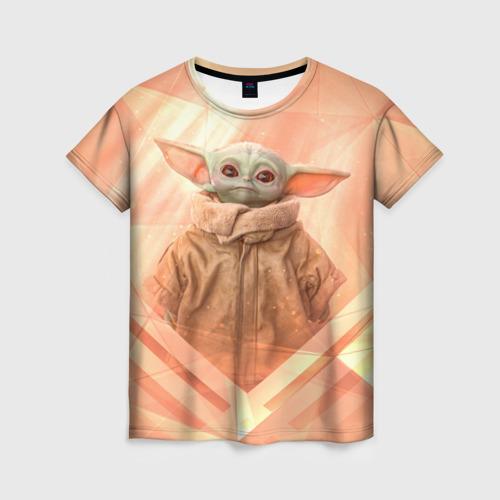 Женская 3D футболка Малыш Грогу