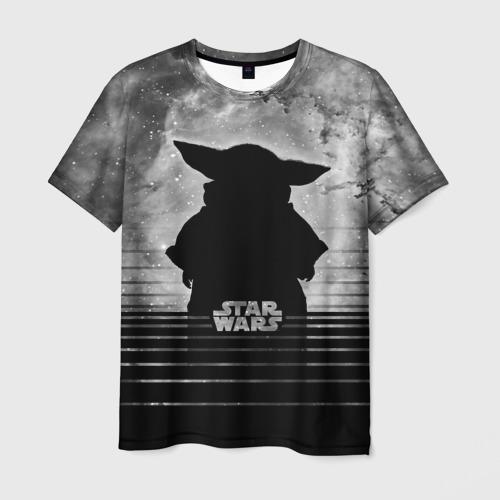 Мужская 3D футболка Child Grogu Star wars