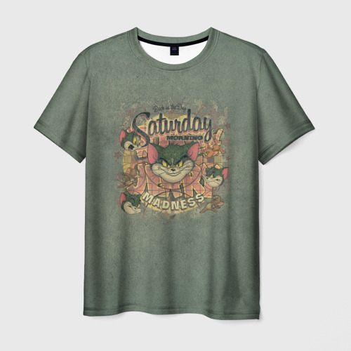 Мужская 3D футболка Saturday madness