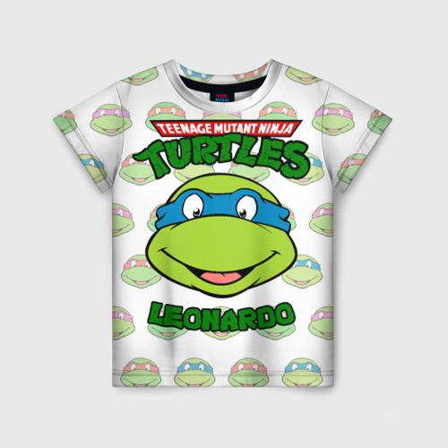 Детская 3D футболка с принтом Черепашки-Ниндзя (19), вид спереди #2