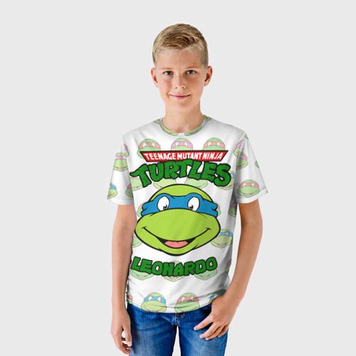 Детская 3D футболка с принтом Черепашки-Ниндзя (19), фото на моделе #1