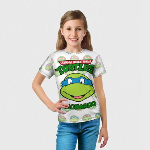 Детская 3D футболка с принтом Черепашки-Ниндзя (19), вид сбоку #3