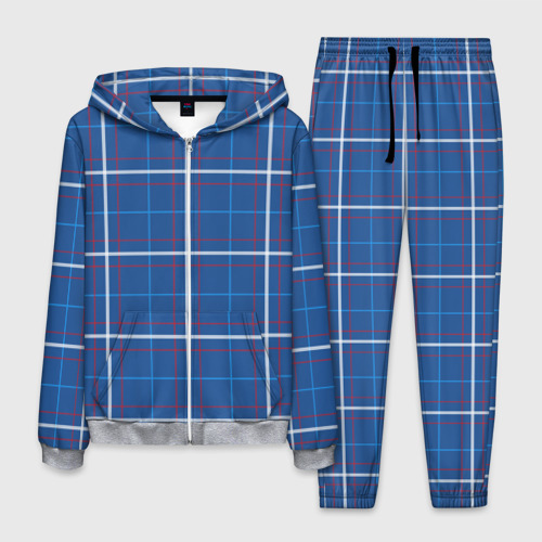 Мужской 3D костюм Шотландка