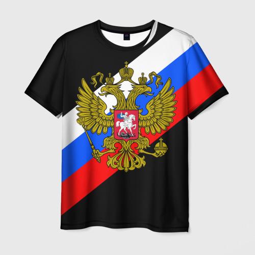 Мужская 3D футболка РОССИЯ