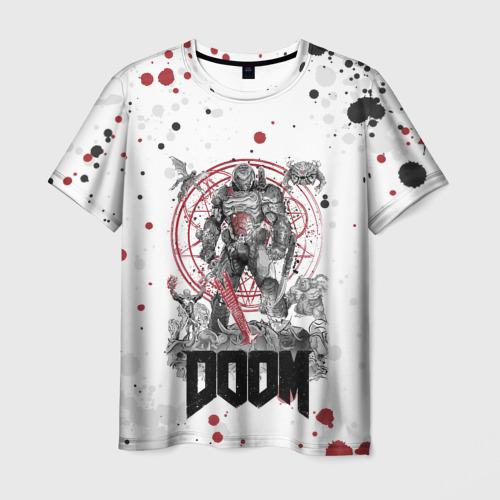 Мужская 3D футболка Doom