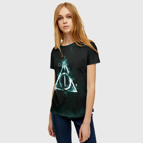 Женская 3D футболка с принтом Гарри Поттер, фото на моделе #1