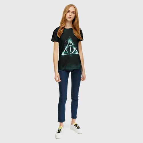 Женская 3D футболка с принтом Гарри Поттер, вид сбоку #3