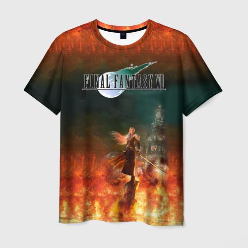 Мужская 3D футболка Final Fantasy VII Remake