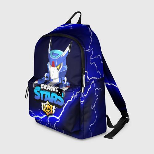 Рюкзак 3D с принтом BRAWL STARS MECHA CROW, вид спереди #2