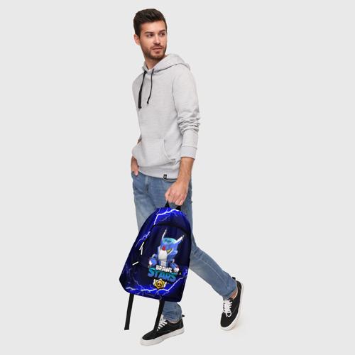 Рюкзак 3D с принтом BRAWL STARS MECHA CROW, фото #5