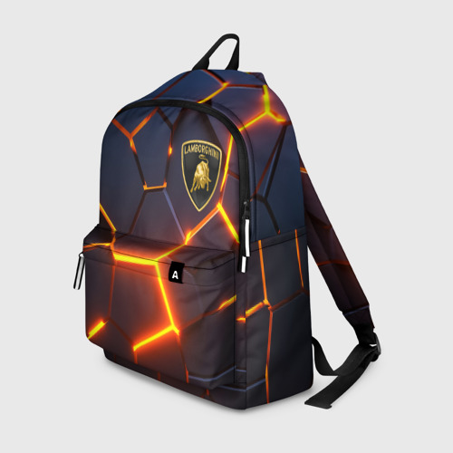 Рюкзак 3D с принтом LAMBORGHINI | 3D ПЛИТЫ, вид спереди #2