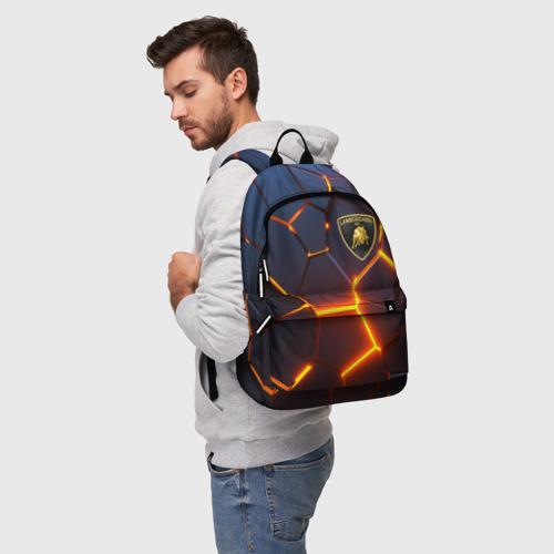 Рюкзак 3D с принтом LAMBORGHINI | 3D ПЛИТЫ, фото на моделе #1