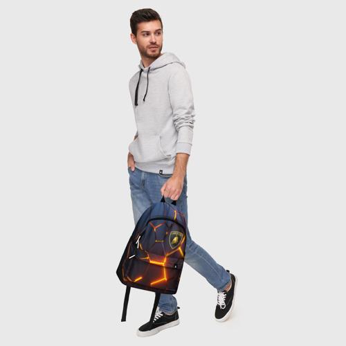 Рюкзак 3D с принтом LAMBORGHINI | 3D ПЛИТЫ, фото #5