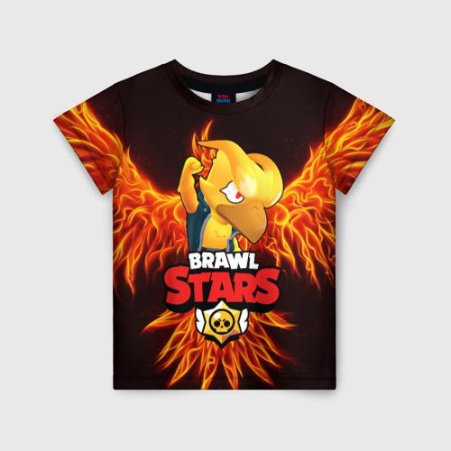 Детская 3D футболка BRAWL STARS CROW | ВОРОН