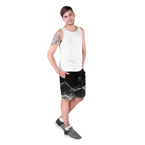 Мужские шорты 3D с принтом MERCEDES, фото на моделе #1