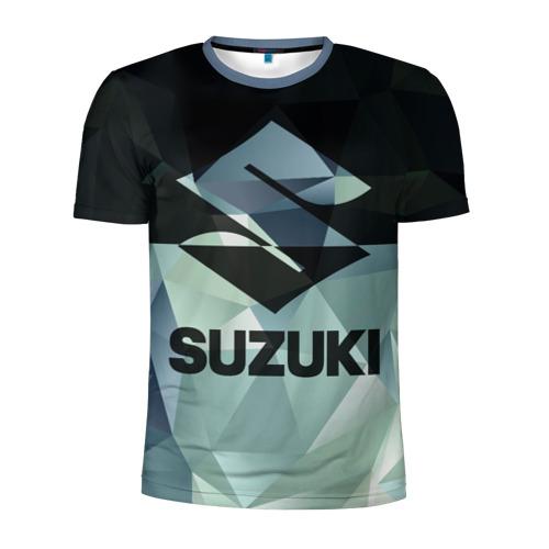 Мужская футболка 3D спортивная с принтом SUZUKI (5), вид спереди #2