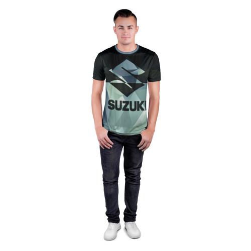 Мужская футболка 3D спортивная с принтом SUZUKI (5), вид сбоку #3