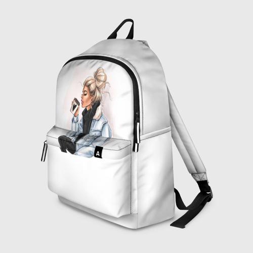 Рюкзак 3D Девушка с кофе