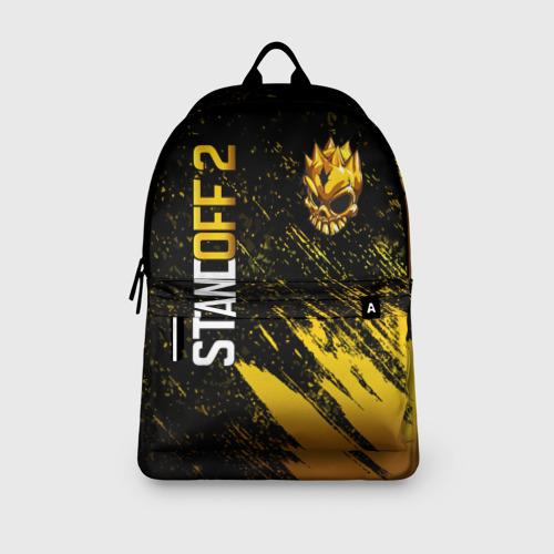 Рюкзак 3D с принтом STANDOFF 2 GOLD SKULL, вид сбоку #3