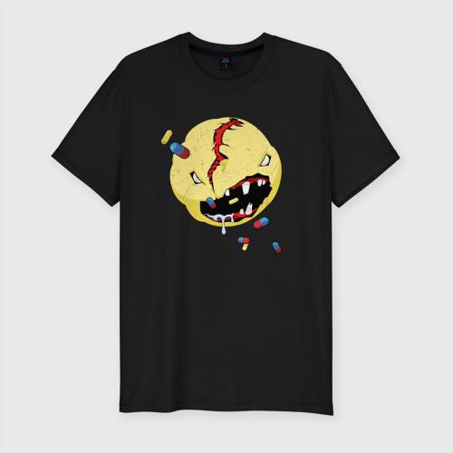 Мужская футболка премиум CYBERPUNK 2077 SMILE   КИБЕРПАНК СМАЙЛ