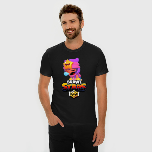 Мужская футболка премиум с принтом Sandy Brawl Stars, фото на моделе #1