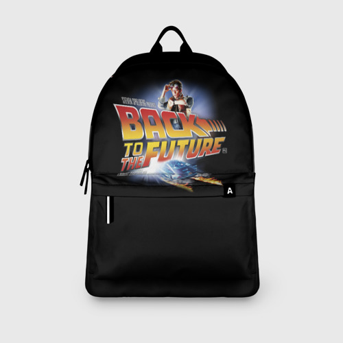 Рюкзак 3D с принтом Back to the Future, вид сбоку #3