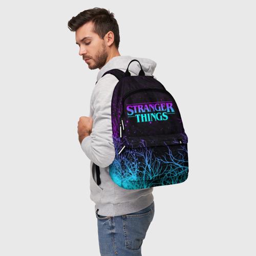 Рюкзак 3D с принтом STRANGER THINGS | ОЧЕНЬ СТРАННЫЕ ДЕЛА, фото на моделе #1