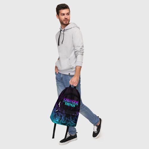 Рюкзак 3D с принтом STRANGER THINGS | ОЧЕНЬ СТРАННЫЕ ДЕЛА, фото #5
