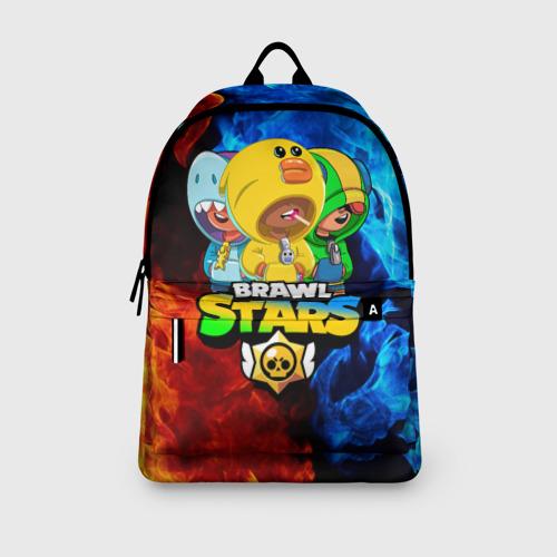 Рюкзак 3D с принтом BRAWL STARS LEON TRIO, вид сбоку #3