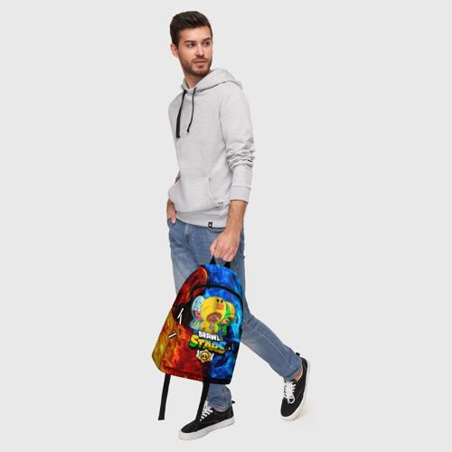 Рюкзак 3D с принтом BRAWL STARS LEON TRIO, фото #5