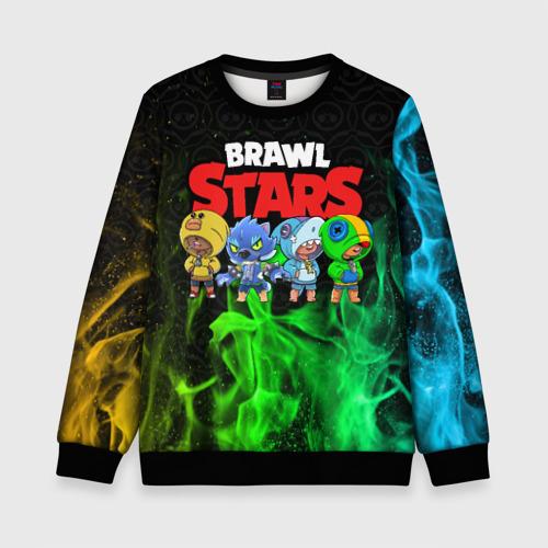 Детский 3D свитшот с принтом Brawl Stars Leon Quattro, вид спереди #2