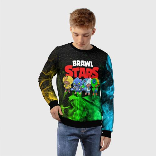 Детский 3D свитшот с принтом Brawl Stars Leon Quattro, фото на моделе #1