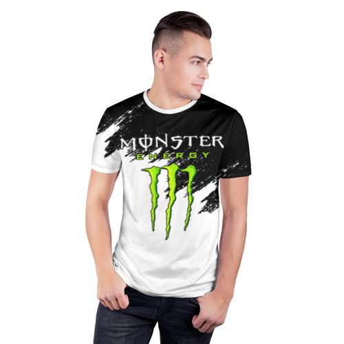 Мужская футболка 3D спортивная с принтом MONSTER ENERGY, фото на моделе #1