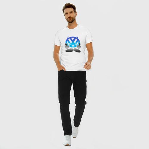 Мужская футболка премиум с принтом Volkswagen | Фольксваген (Z), вид сбоку #3