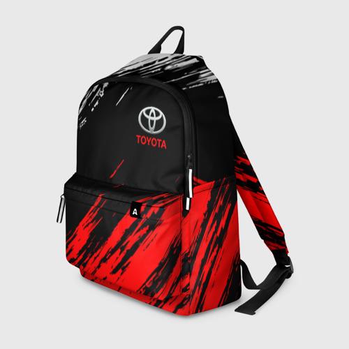 Рюкзак 3D с принтом TOYOTA, вид спереди #2