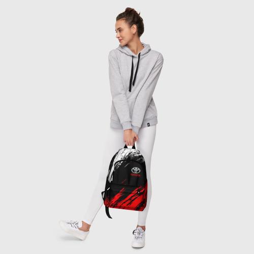 Рюкзак 3D с принтом TOYOTA, фото #6