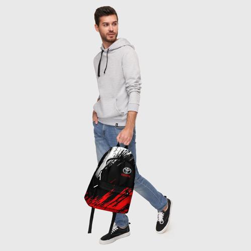 Рюкзак 3D с принтом TOYOTA, фото #5