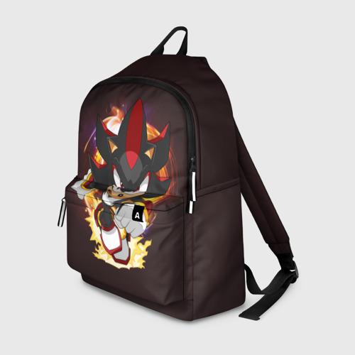 Рюкзак 3D с принтом Sonic Шедоу, вид спереди #2