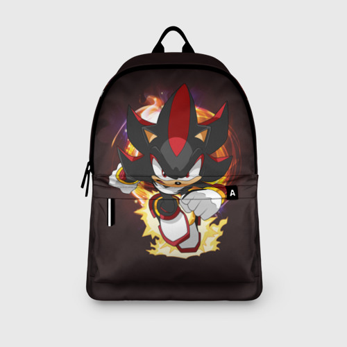Рюкзак 3D с принтом Sonic Шедоу, вид сбоку #3