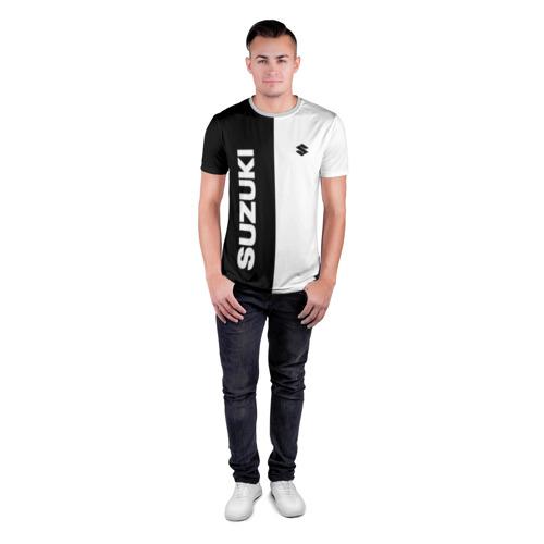Мужская футболка 3D спортивная с принтом SUZUKI   СУЗУКИ (Z), вид сбоку #3