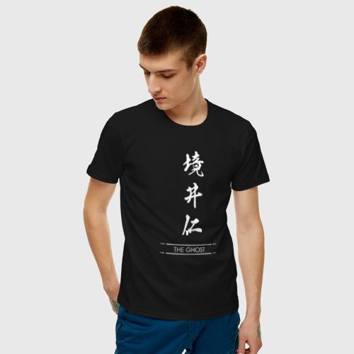 Мужская футболка с принтом Ghost of Tsushima, фото на моделе #1