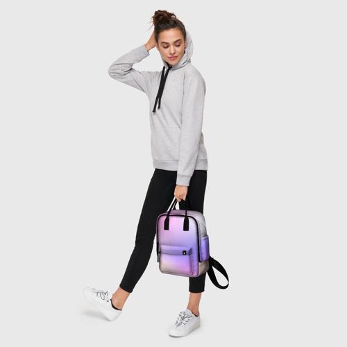 Женский рюкзак 3D с принтом Светлый градиент розовый мода, фото #4