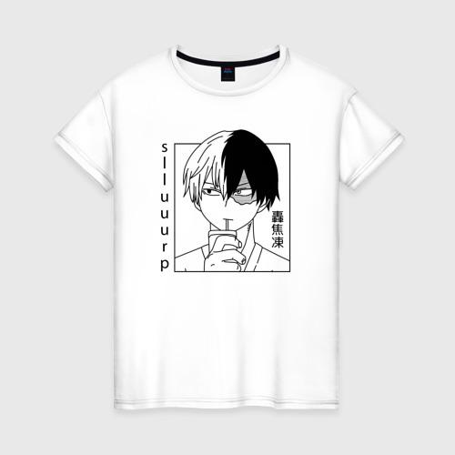 Женская футболка Тодороки Todoroki Shoto BNHA
