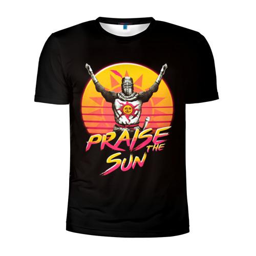Мужская футболка 3D спортивная с принтом PRAISE THE SUN, вид спереди #2