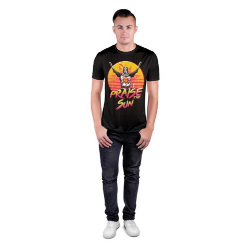 Мужская футболка 3D спортивная с принтом PRAISE THE SUN, вид сбоку #3