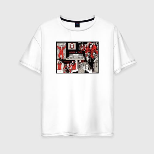 Женская футболка oversize БУМАЖНЫЙ ДОМ