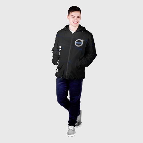 Мужская куртка 3D с принтом VOLVO, фото на моделе #1