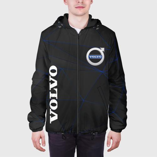 Мужская куртка 3D с принтом VOLVO, вид сбоку #3